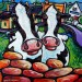 Painting of 2 cows in Doolin