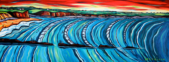 Spanish Point, Surf, County Clare, Ireland, painting