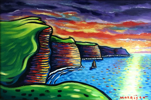 Print of Cliffs of Moher